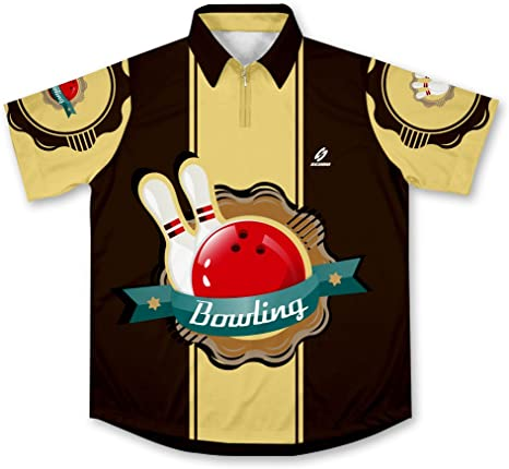 Pins Crusher Bowling Jersey Camisa de Bolos -: Amazon.es: Deportes y aire libre