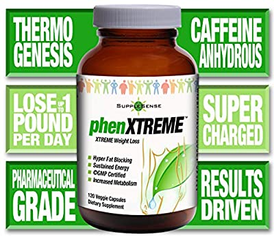 phenXTREME - ADVANCED Weight-Loss - Contains Caffeine Anhydrous for Alertness AND a Proprietary Results Driven Blend for Maximum Weight Loss - Helps YOU Reduce Calories by as much as 50%!! Guaranteed
