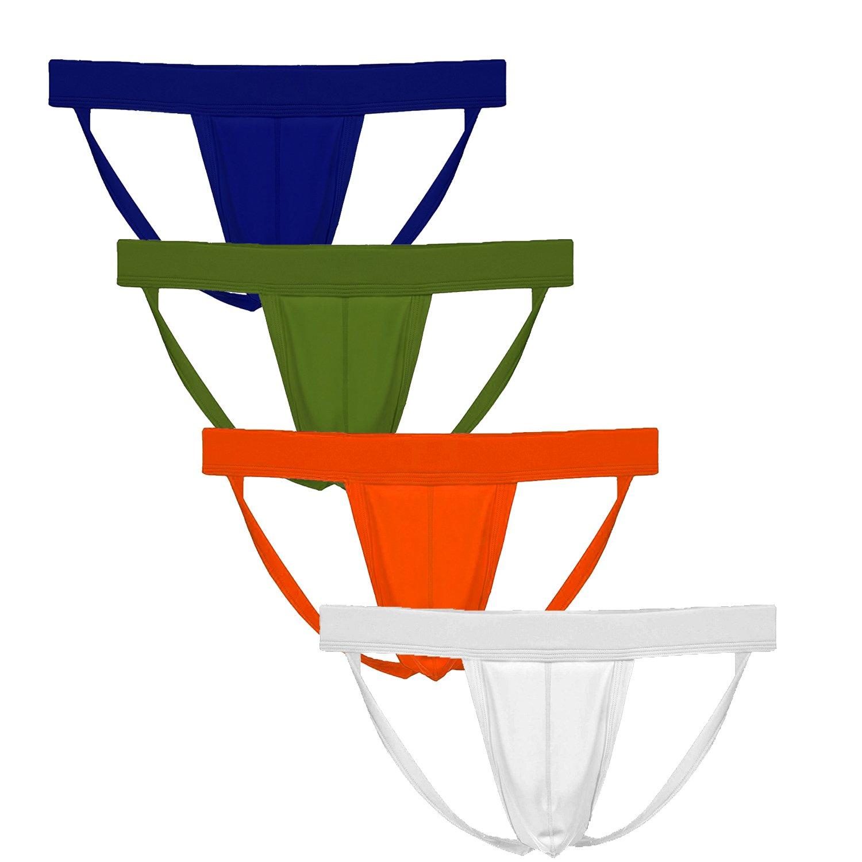 Summer Code Men's Athletic Supporter Performance Jockstrap Elastic Waistband Underwear