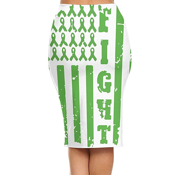 Amazon.com: ZSJRH-M Womens Sexy Slim Mid Skirt Bile Duct Cancer Awareness High Waist Bodycon Pencil Knee Length Skirt Package Hip Skirt: Clothing