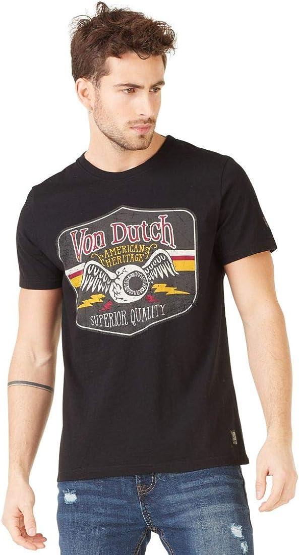 Von Dutch Gas The Flying Eye - Camiseta para hombre, color negro