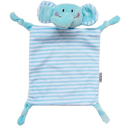 YeahiBaby Dou Dou Bebe Peluche Manta Algodon Bebe Elefante Azul