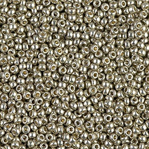Miyuki Round Rocaille Seed Beads Size 11/0 8.5GM-Tube DURACOAT Galvanized Light Pewter