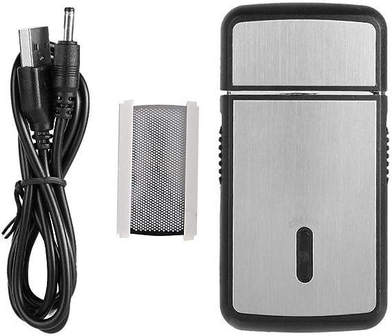 Wosume Afeitadora de Barba Recargable, Mini Hombres portátiles USB ...