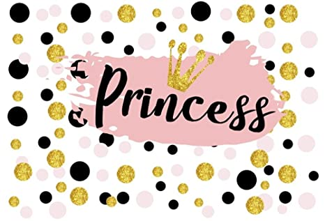 Amazon Com Lfeey 9x6ft Little Princess Baby Shower Background For