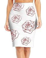 BaodaooVintage Rose Tattoo Slim Vintage Pencil Skirts For Women High Waist Pencil Skirt Short Fitted Mini Skirt Bundle Packs