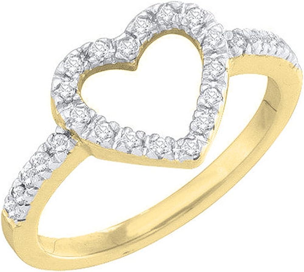 Dazzlingrock Collection 0.18 Carat (ctw) 14K Gold Round Diamond Ladies...