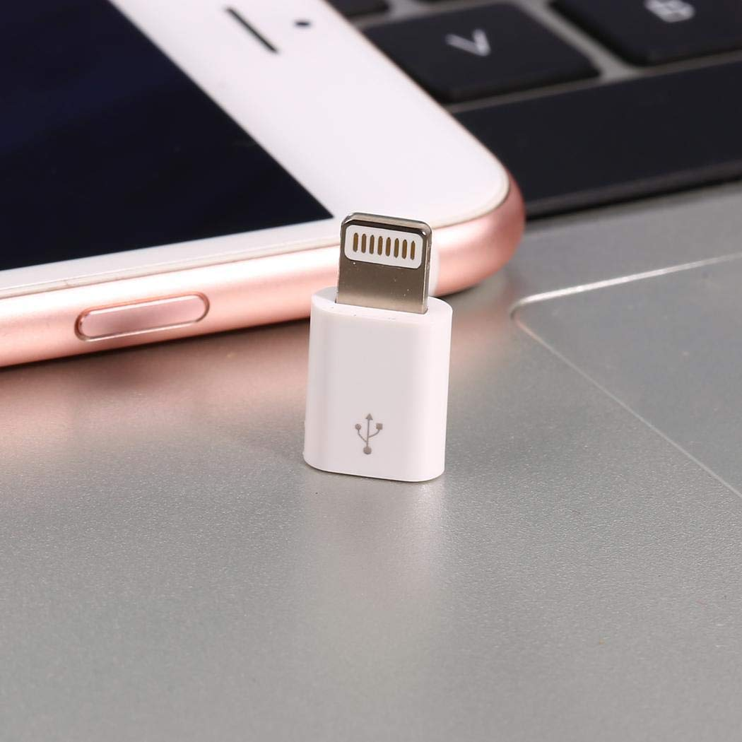 Micro USB Female to USB 3.1 Type-C Male Adapter Converter Micro USB Cable Charger Adapter for iPhone 7 6 6s 5s, Tablet, Laptop