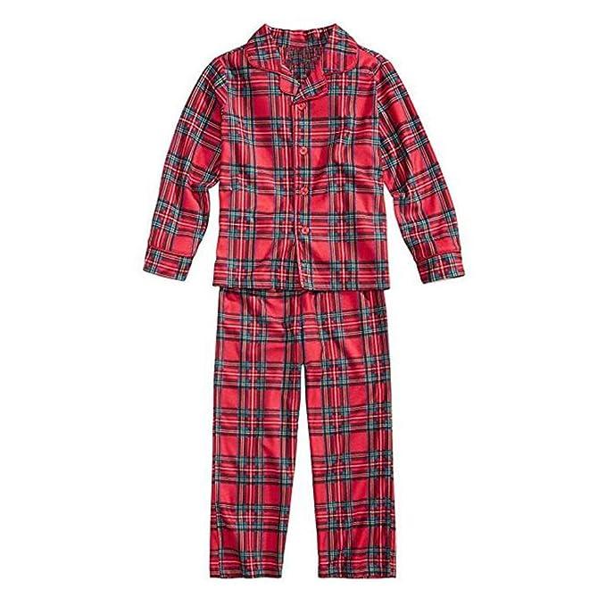 9dde9b06c0 Juleya 2 PCS Family Matching Christmas Pyjamas Set Dad Mom Kids Baby Plaid  Sleepwear Outfits  Amazon.co.uk  Clothing