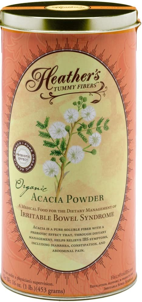 Heather's Tummy Fiber Organic Acacia Senegal for IBS, 16 Ounce Canister