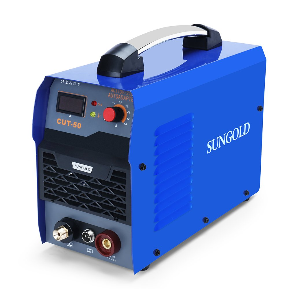 SUNGOLDPOWER 50A Air Plasma Cutter Inverter DC Digital Display IGBT Portable With Accessories Welding Machine Inverter Cutting 50Amp 110V and 220V