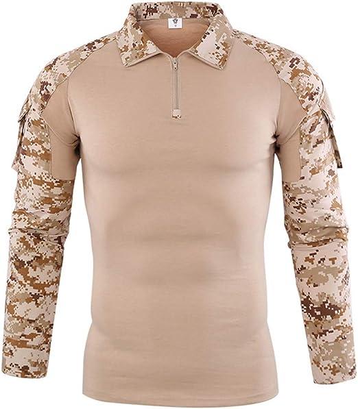 LUCKGXY Los Hombres de Estilo de Combate Camiseta, Militar ...