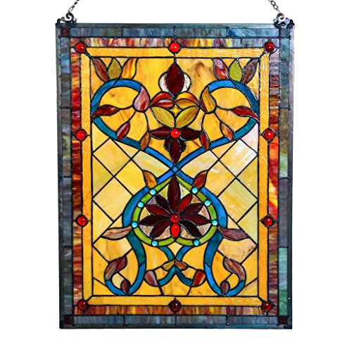 river of goods tiffany style stained glass firey heart
