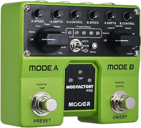 Muslady MODFACTORIO MOOER Módulos Pro Dual Modulación Pedal de ...