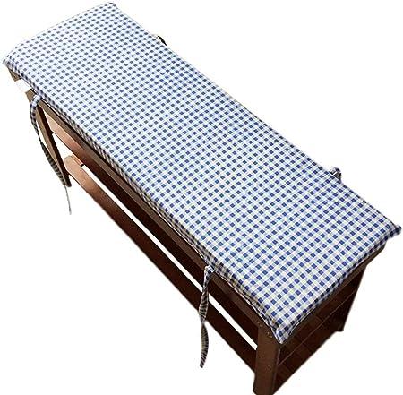 Cojín para banco de jardín, tatami para bancos de patio, muebles de palé, cojines de banco exterior, azul, 100x30cm: Amazon.es: Hogar
