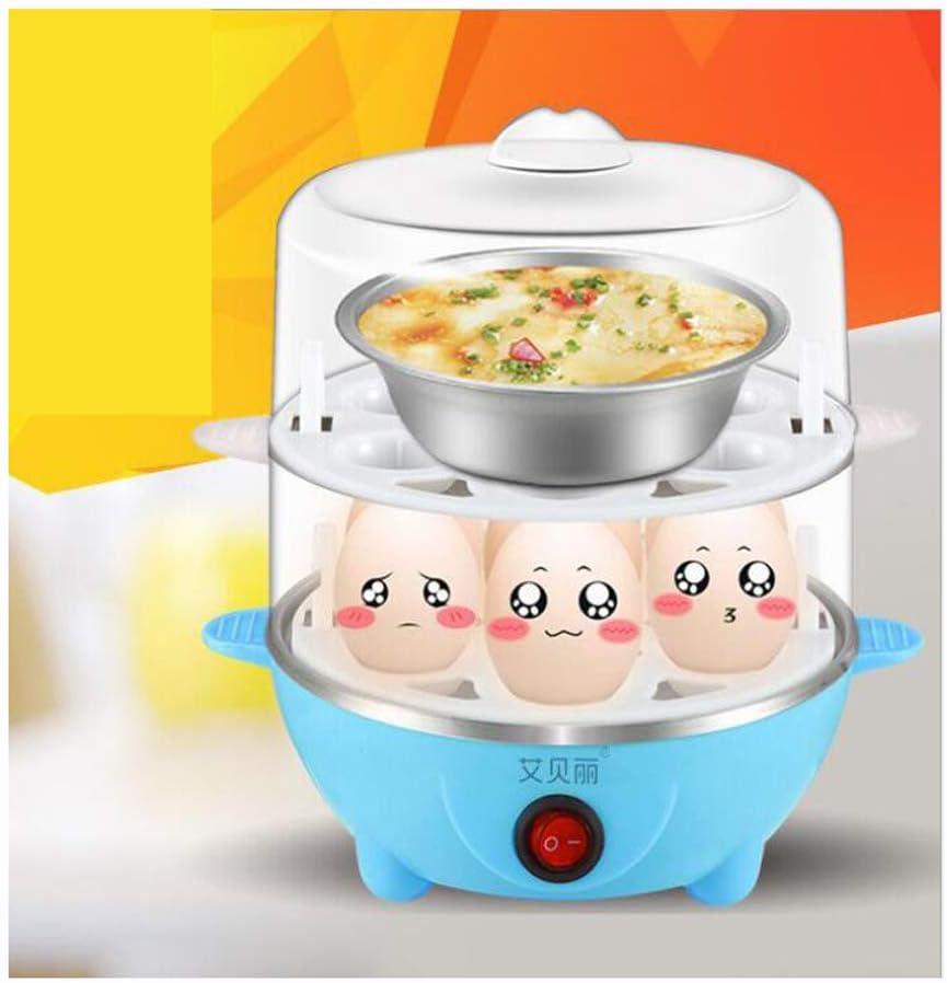 Cocina Y Temporizador Eléctricos Para Calderas De Huevos Con Accesorio De Vaporizador Para Huevos Duros Y Duros Perfectos |,Blue