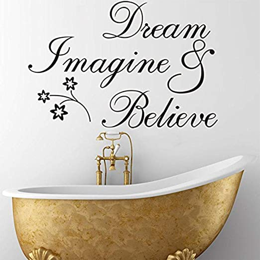 Witkey Dream Imagine and Believe Inspirado Tatuajes de Pared ...