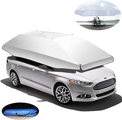 Tienda de campaña para coche plegable y portátil, para auto, con aislamiento de techo y toldo para evitar que el paraguas sea semiautomático, 350 x 190 cm: Amazon.es: Hogar