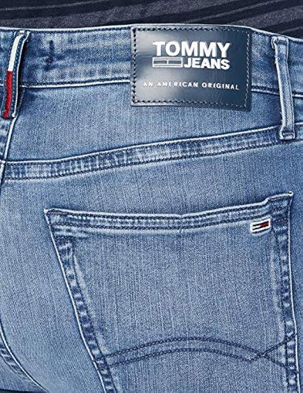 Tommy Jeans Simon Skinny Dywlm Straight Jeans męskie dżinsy: Odzież