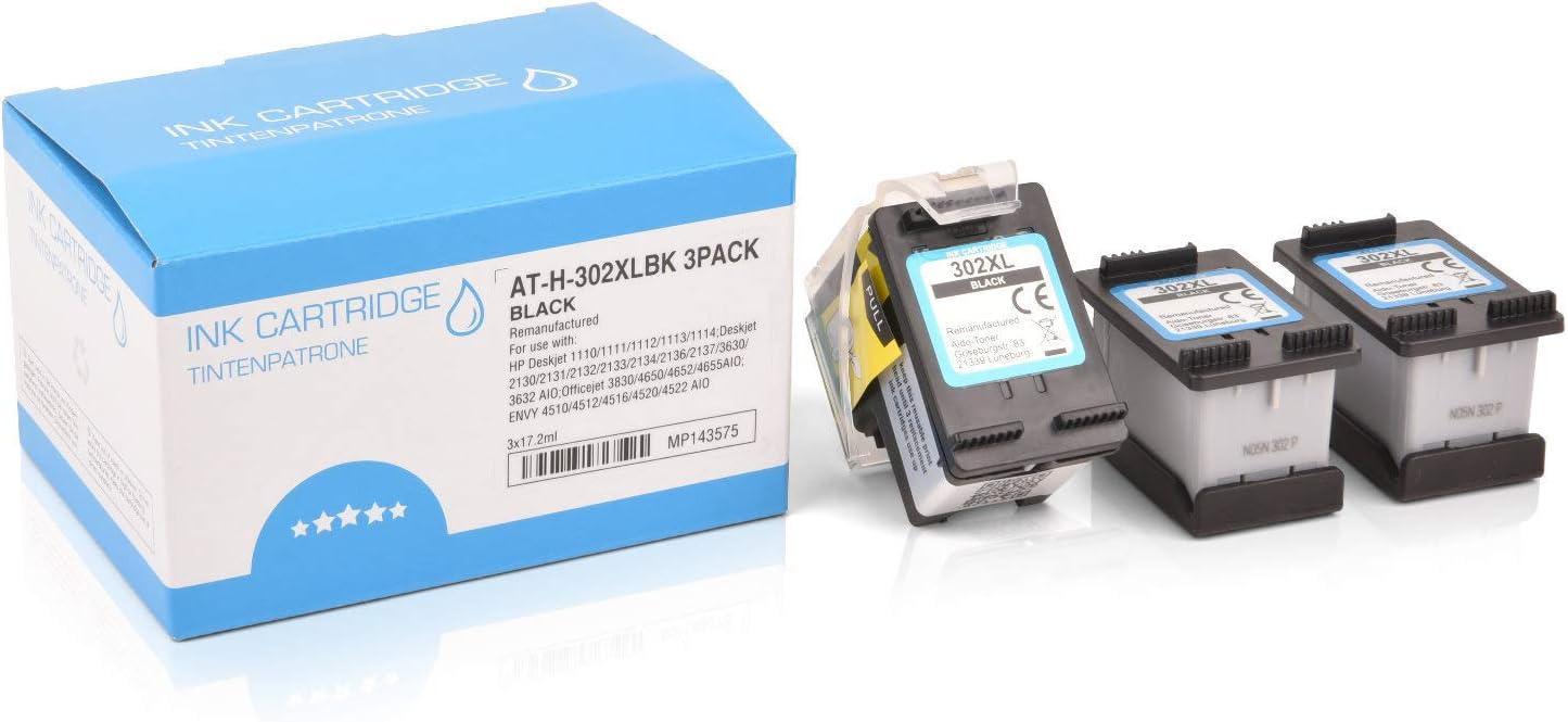 3 Mipuu cartuchos de tinta compatible con HP 302XL 302 XL F6U68AE ...