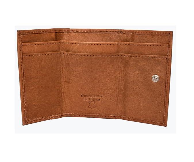 Cartera monedero de hombre en piel con monedero marca Anna & Robert (marrón): Amazon.es: Zapatos y complementos