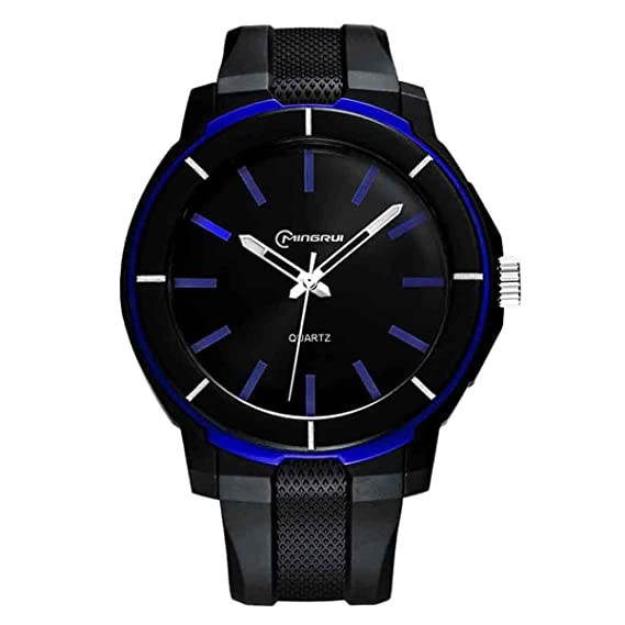 Mingrui Reloj Digital de Pulsera Elegante Clásico de Correa PU de Cuarzo Resistente al Agua de 30M Waterproof Wrist Watch para Jóvenes Chicos: Amazon.es: ...