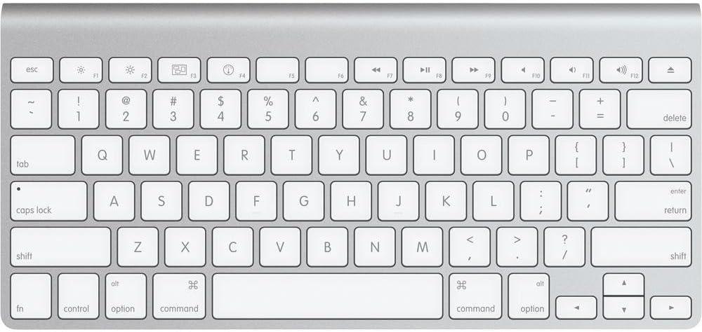 Teclado inalámbrico Bluetooth de Apple, de aluminio, diseño plano, con teclas tipo chiclet, forma compacta