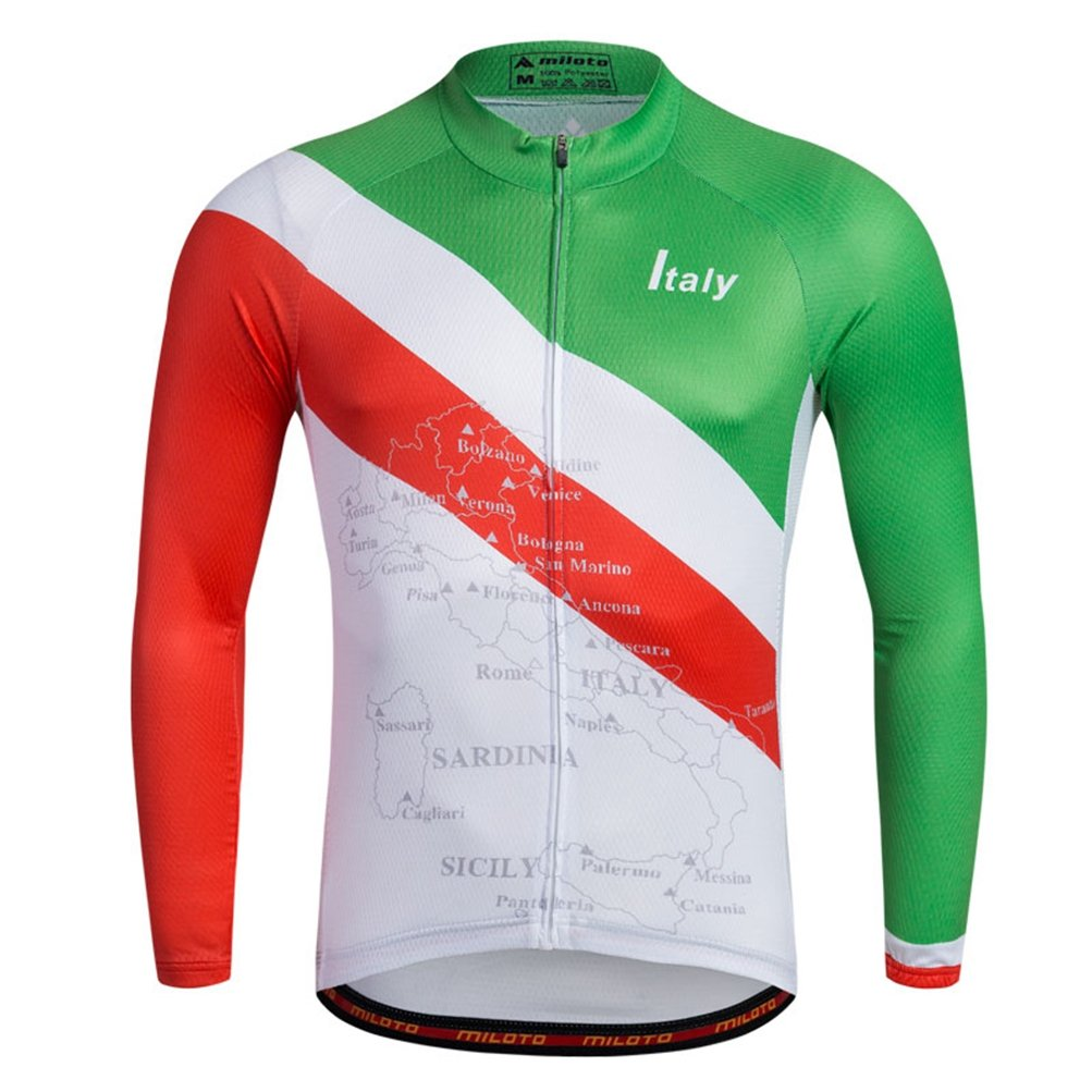 Uriah Men 's Cycling Jersey熱フリース長袖Reflective B074QCY2T3 Chest 40.9''=Tag L|Italy Style Italy Style Chest 40.9''=Tag L