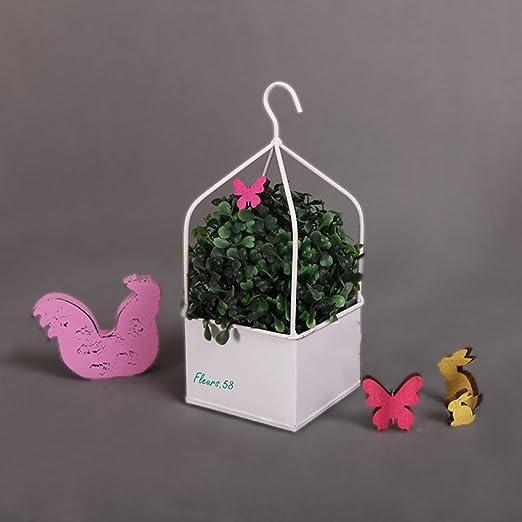 Hierro jaula de pájaros flores decoración hogar adornos de ...