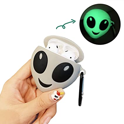 Amazon Com Ezicok Cool Et Airpods Case With Keychain Cute