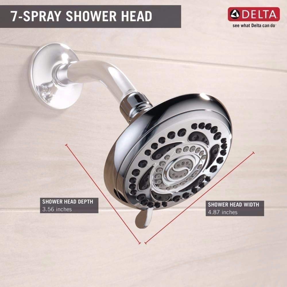 Delta 7-Spray 4-7 8 in. 75784 Fixed Shower Head in Chrome