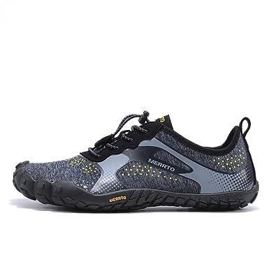 Men's Outdoor Five Finger Hiking Shoes (9.5 Black)