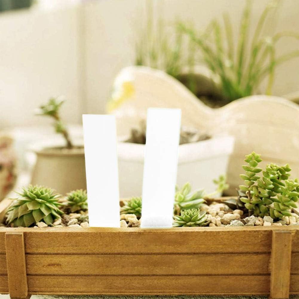 AHEYE 300 Pcs 4 Inch Plastic Plant Tags Nursery Garden Label Waterproof Reusable Pot Plant Markers White