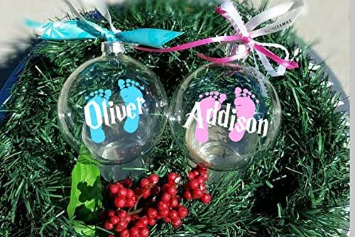 Amazon.com: Baby's First Christmas Ornament, Personalized ...