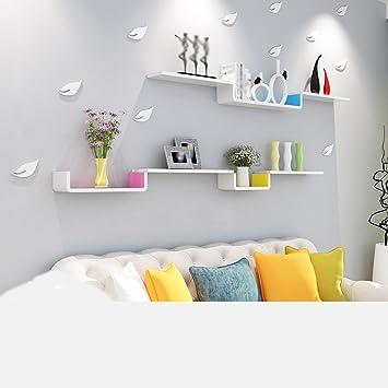 Juillet Étagère Murale Étagère Murale Salon Étagère Chambre à Coucher  Modern Simple Baffle Étagère Décorative