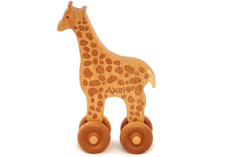 Wooden Toy Giraffe Car