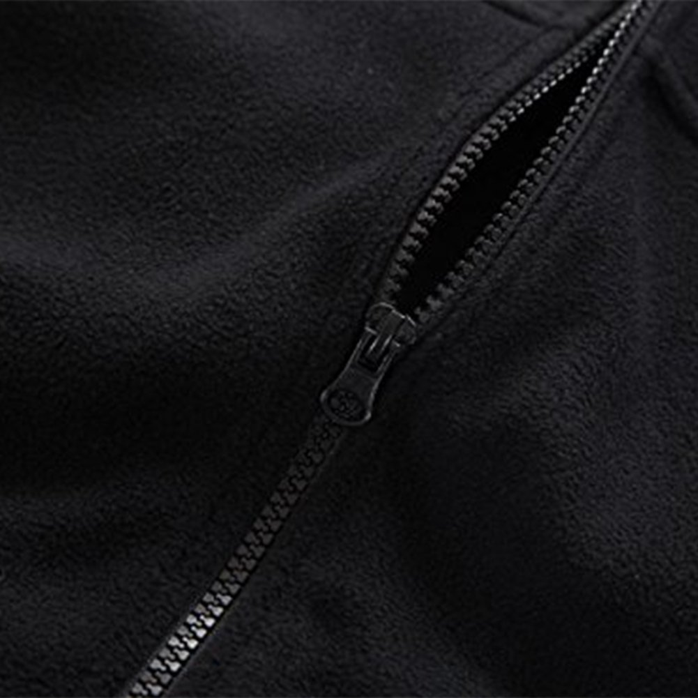 Somewhere Mountain Full Zip Fleece Jacket, Men's Full Front Zip Fleece Casual Lightweight Jacket, Best Birthday Gifts-Black,Small by Somewhere (Image #8)