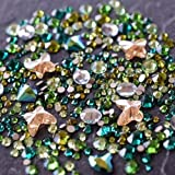 Swarovski Flatback Crystals No Hotfix Theme Mix - Forest | Pack of 260 | Small & Wholesale Packs