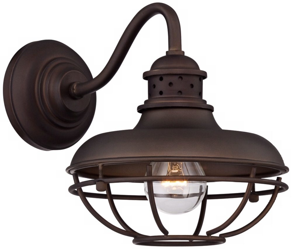 Industrial Outdoor Wall Light Franklin park metal cage 9 high bronze outdoor wall light wall franklin park metal cage 9 high bronze outdoor wall light wall porch lights amazon workwithnaturefo