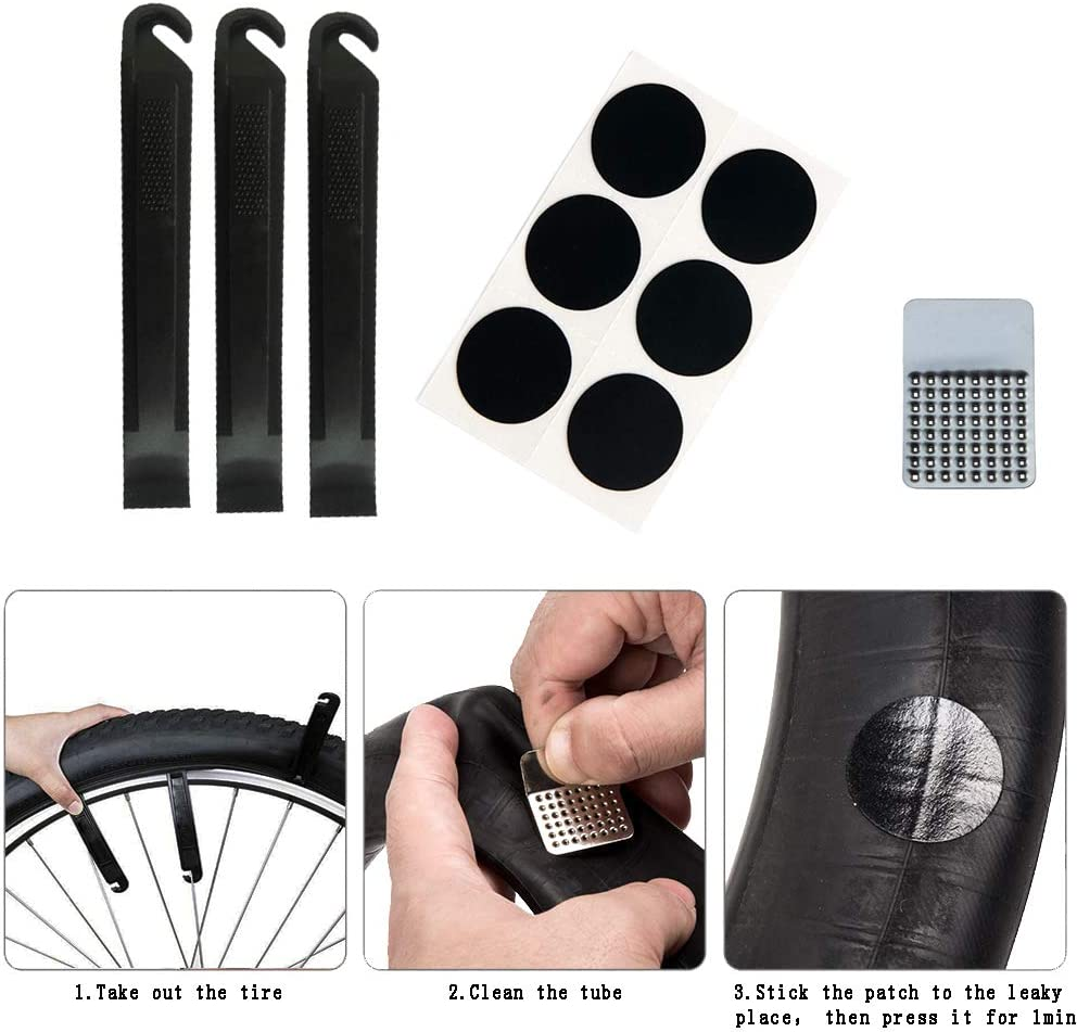 Bicycle Tire Change With Nylon Plastic Spoon Stick Tool Portable Repair