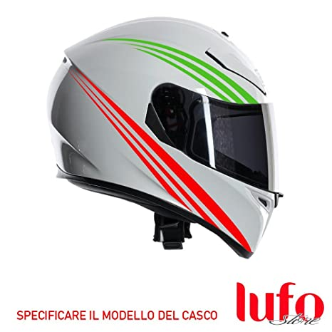 Lufostore - Italia-X0005E. Pegatina adhesiva tricolor para cascos de motocicletas