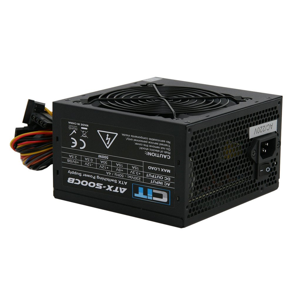Switching Power Supply Builder PSU 500W ATX with 12cm Silent Fan ...