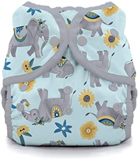 product image for Thirsties Duo Wrap Cloth Diaper Cover, Snap Closure, Elefantabulous Size Two (18-40 lbs)