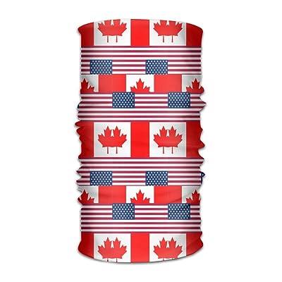 Unisex Usa Canada Flag Multifunctional Bandanas Sweatband Elastic Turban Headwear Headscarf Beanie Kerchief