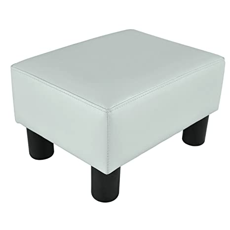 Incredible Modern Faux Leather Ottoman Footrest Stool Foot Rest Small Chair Seat Sofa Couch White Ocoug Best Dining Table And Chair Ideas Images Ocougorg