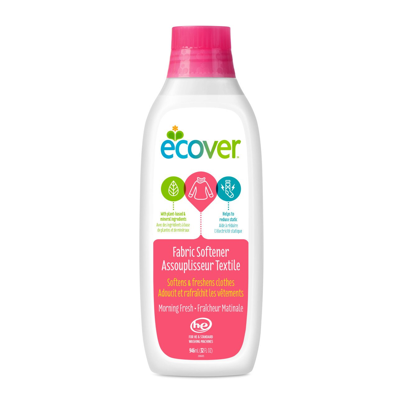 Ecover Fabric Softener Liquid Morning Fresh 32 Ounce Daia Softergent Violet Health Personal Care