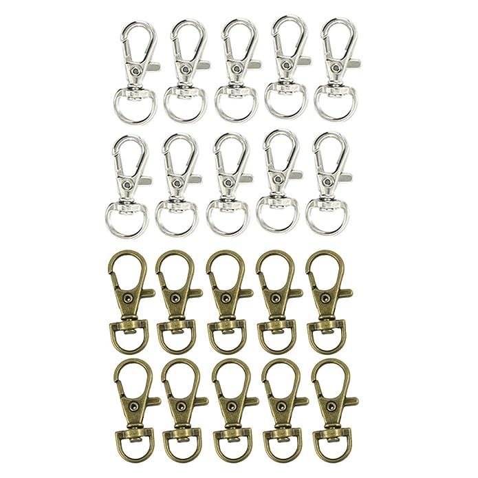 6Stk.Rund förmig Verschlussring für Schlüsselketten Dekorationen auf Handtaschen