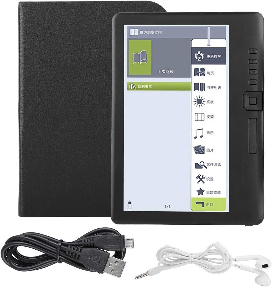 8G 1Pc BK7019 380 MHz Lector de Libros electr/ónicos port/átil Resistente al Agua Pantalla Colorida Compatible con Tarjeta TF de 7 Pulgadas Biuzi E-Book