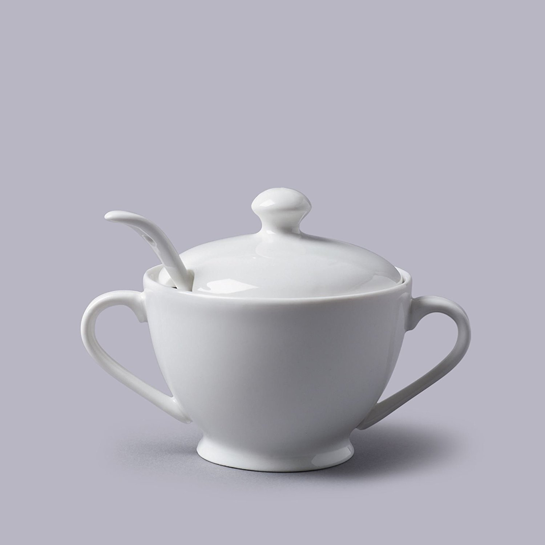 Sugar Bowl and Spoon - White Ceramic CKS COMINHKPR68630