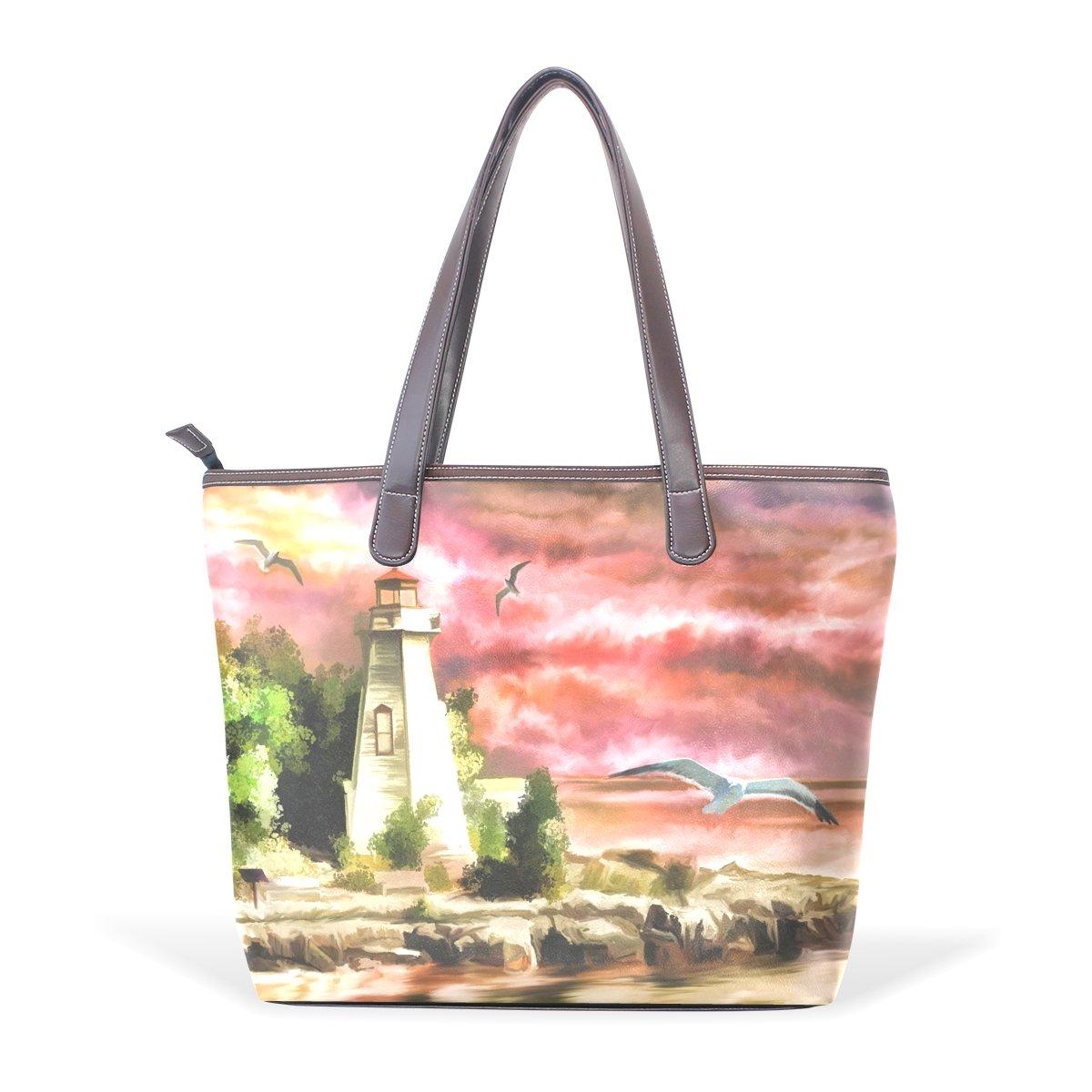 COOSUN Damen Light House House House Pu Leder Tote Handtasche Schultertasche M B0725464RG Shopper Zu einem erschwinglichen Preis 209f38